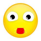Show tongue emoji Tease emotion Put out tongue emoticon Vector illustration smile icon