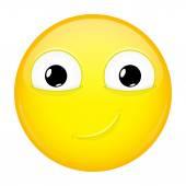 Usměvavá emoji. Úšklebek emoce. Šťastný emotikonu. Vektorové ilustrace smajlíka