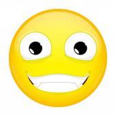 Zlo emoji. Šťastný emoce. Prostřihovač emotikonu. Vektorové ilustrace smajlíka