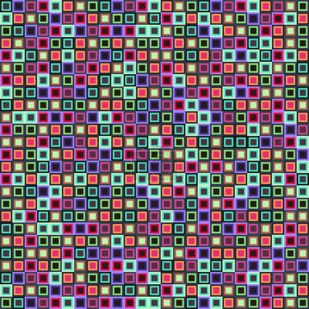 Geometric pattern with doodle squares.