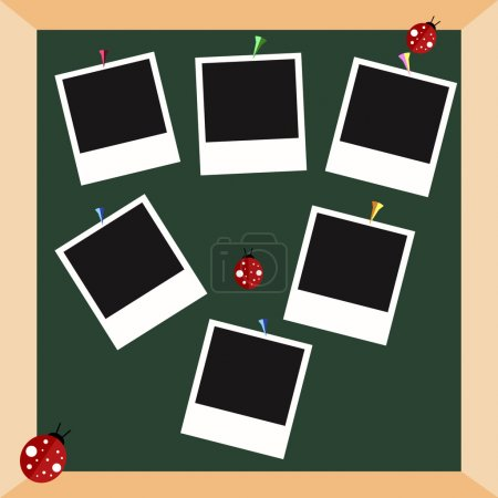 Polaroid frames vector set.