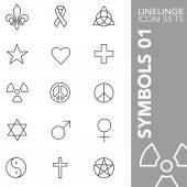 Premium stroke icon set of tinternational sign religion symbol and symbolic 01 Linelinge modern outline symbol collection
