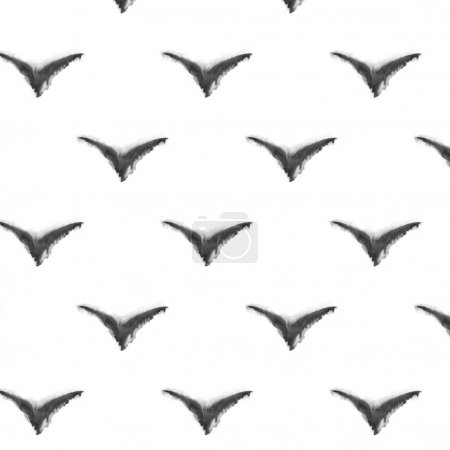 Seamless pattern. watercolor abstract bird