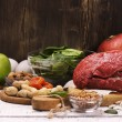 Healthy product rich of iron. Natural sources of f...