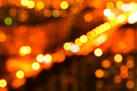Огни ночного города с естественным эффектом боке