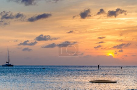 Gorgeous Sunset over the Caribbean Sea