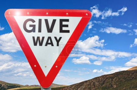 Give WayTriangularTraffic sign