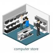 Isometric interior of Computer store