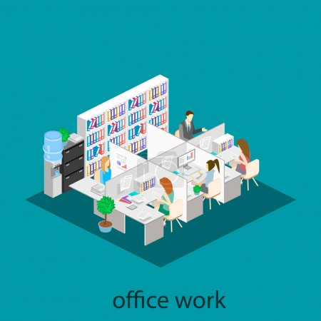 office floor interior departments