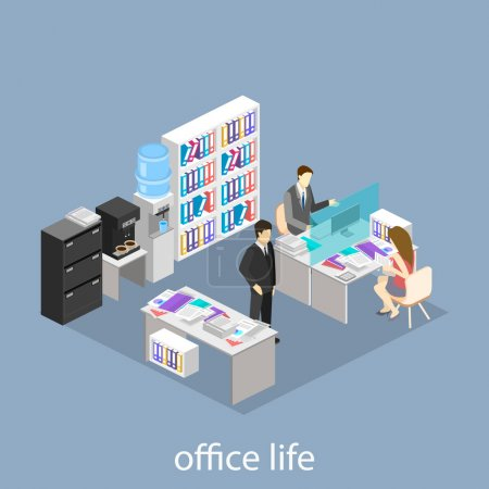 isometric abstract office