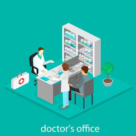 Medical consultation. interior