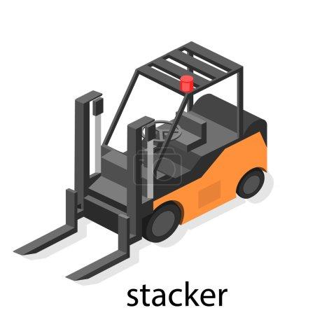 Isometric stackers icon.