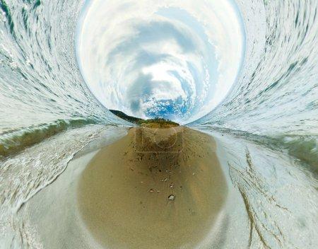 Stereographic panorama of Lake Baikal