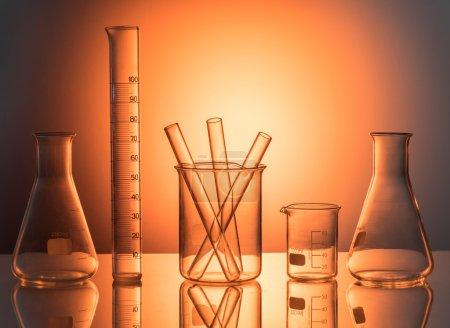 Laboratory glassware still life