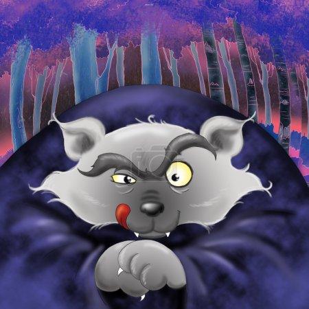 Bad wolf illustration