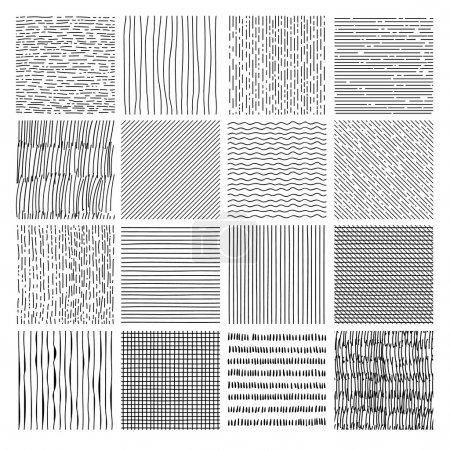 Set of Hand drawn textures, brush strokes