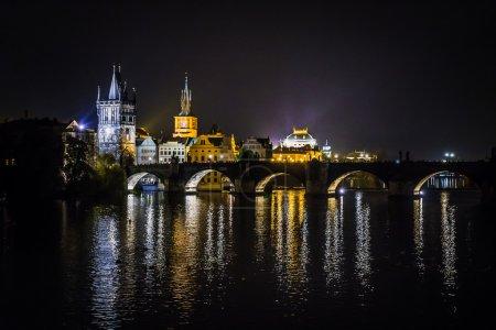 Charles bridge water reflection Prague