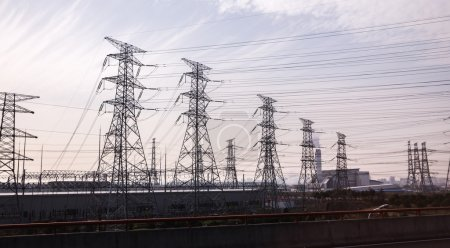 Power Towers with electricity cables