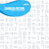 Home Appliance Line Art seamless pattern