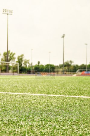 Photo for Stadium. Football field. Sport and fitness. - Royalty Free Image