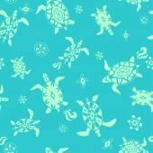 Sea beach vector seamless pattern hand drawn ornamental illustration