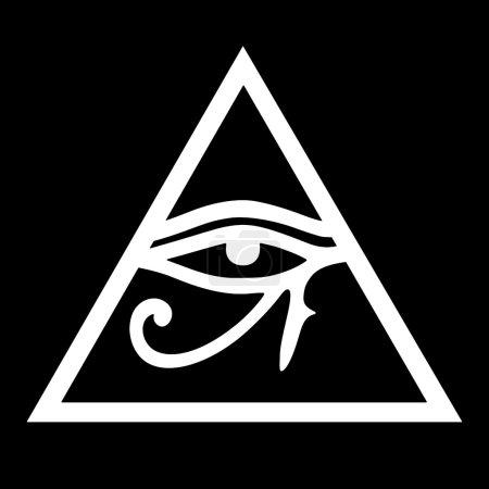 Photo pour L'oeil d'Horus est un ancien symbole égyptien de bonne santé, le pouvoir royal et la protection. - image libre de droit