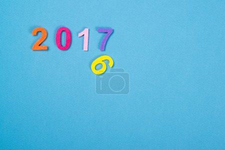 Close up of colorful number 2017.