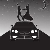 Night dance in the moonlight