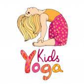 Logo for children yoga