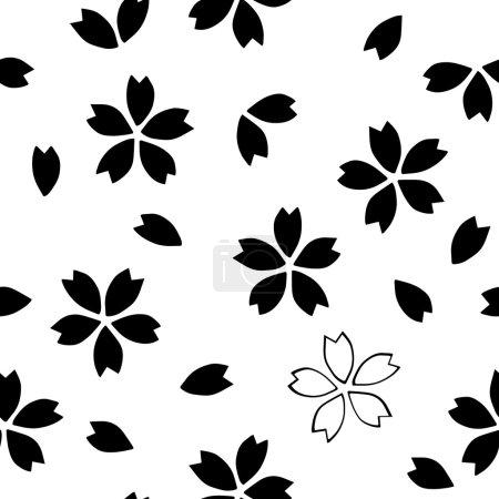 Seamless traditional Japanese sakura pattern.