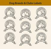 Set of Dog Breeds Labels