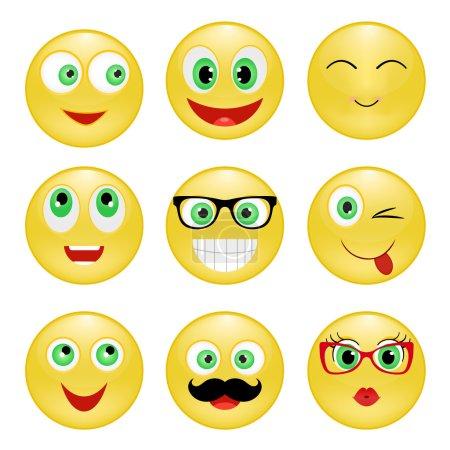 set of yellow smiley