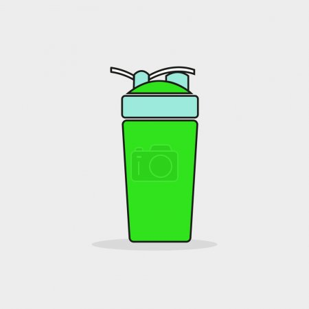 protein shaker icon vector. fitness shaker vector. sports nutrition shaker