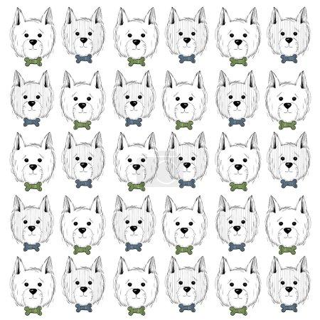 west highland white terrier scetch pattern