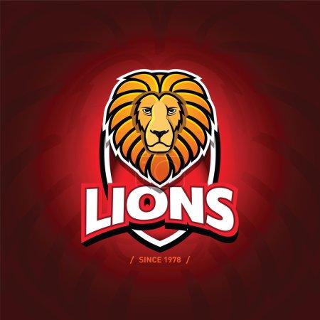 'Lions' sport team logo template