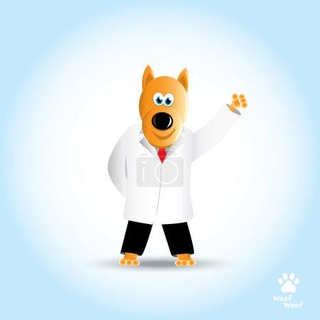 Cartoon cute dog doctor