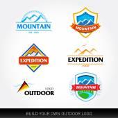 Mountain logo Travel Adventures logotypes