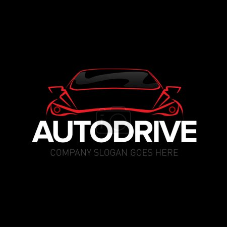 Autodrive car logotype