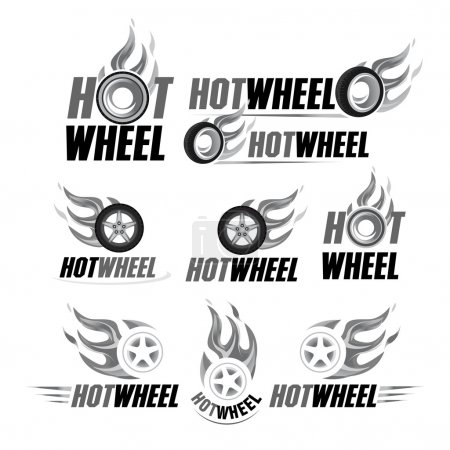 Hot wheel, Racing flat labels