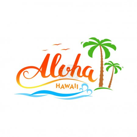 Aloha Hawaii handmade t-shirt graphics