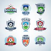 Soccer logo Football logo Set of soccer football crests and logo template emblem designs logotypes design concepts of football icons Collection of Soccer Themed T-shirt Graphics