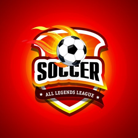 Soccer, football logo