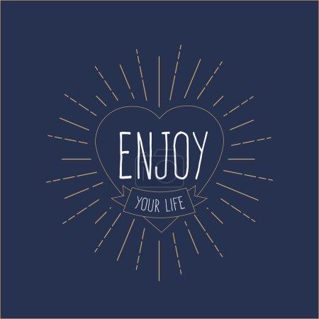 'Enjoy Your Life' vintage card