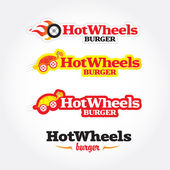 Hot wheels cafe logo template