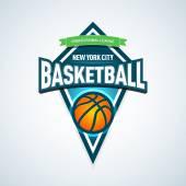 Basketball golden logo template