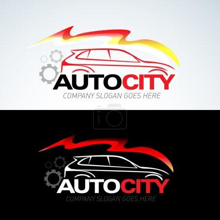 Auto city car logo template