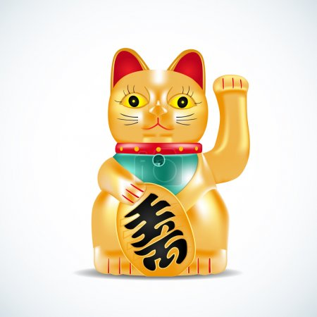 Maneki neko, golden cat