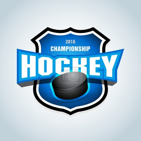 Hockey sport team logotype