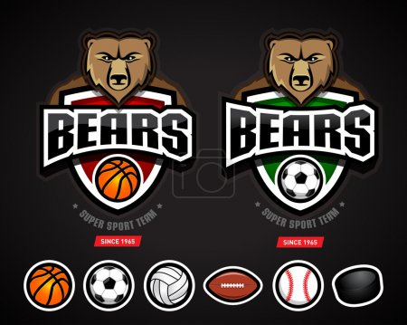 Bears sport logos team template
