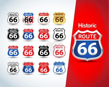 Route 66 sign set